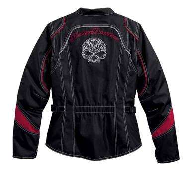 Harley-Davidson Women's Embroidered Scroll Skull Riding Jacket, Black 98106-16VW - Wisconsin Harley-Davidson
