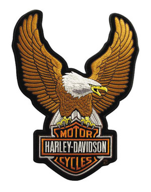 Harley-Davidson Eagle Winged Large Brown Patch, 7-3/4/'' x 10-1/4'' EMB328394 - Wisconsin Harley-Davidson