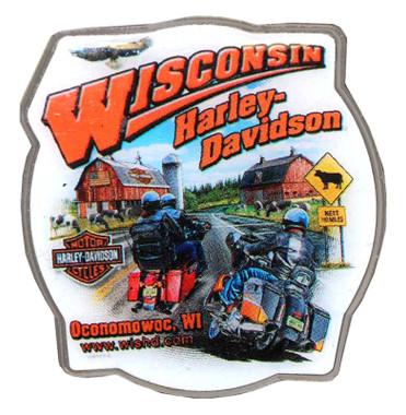 Harley-Davidson Cow Ridin' Bar & Shield Pin HDPIN - Wisconsin Harley-Davidson