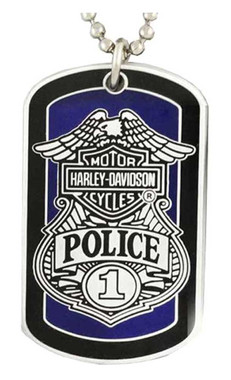 Harley-Davidson Police To Protect And Serve Dog Tag Necklace/Key Chain 8002671 - Wisconsin Harley-Davidson