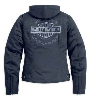 Harley-Davidson Women's Miss Enthusiast Outerwear Jacket, Black 98519-12VW - Wisconsin Harley-Davidson