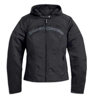 Harley-Davidson Women's Miss Enthusiast Outerwear Jacket, Black 98519-12VW - Wisconsin Harley-Davidson