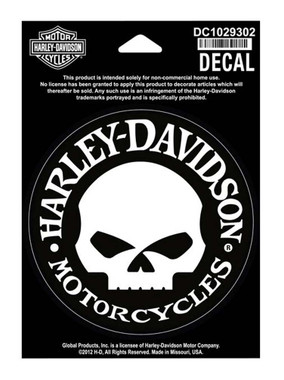 Harley-Davidson Hubcap Skull Small Decal, 4'' W x 4'' H DC1029302 - Wisconsin Harley-Davidson