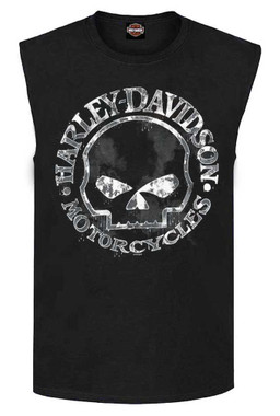 Harley-Davidson Men's Willie G Skull Muscle Tank Top, Black T-Shirt 30296644 - Wisconsin Harley-Davidson