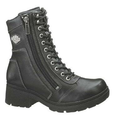 Harley-Davidson Women's Tessa 6-Inch Lace-Up Side Zip Motorcycle Boots D85262 - Wisconsin Harley-Davidson