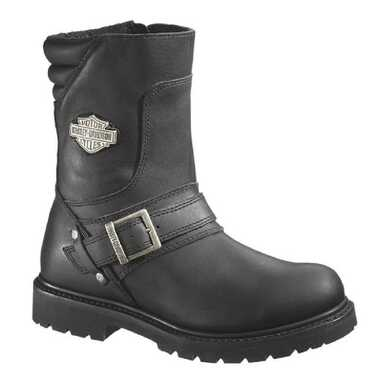 Harley-Davidson Men's Booker Front Strap 8.25-Inch Motorcycle Boots D95194 - Wisconsin Harley-Davidson
