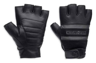 Harley-Davidson Men's Centerline Reflective Fingerless Leather Gloves 98250-13VM - Wisconsin Harley-Davidson