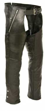 Milwaukee Leather 4 Pocket Chaps, Thigh Stretch, Removable Thermal Liner ML1191 - Wisconsin Harley-Davidson