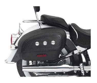 Harley-Davidson Locking Rigid Saddlebags Softail Deluxe Models Black 53015-05B - Wisconsin Harley-Davidson
