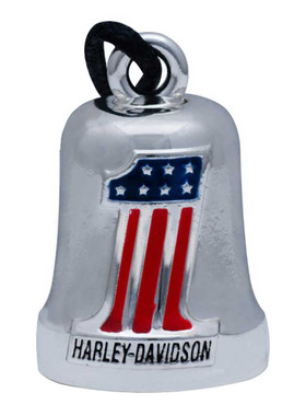 Harley-Davidson Classic #1 American Flag Ride Bell,  HRB070 - Wisconsin Harley-Davidson