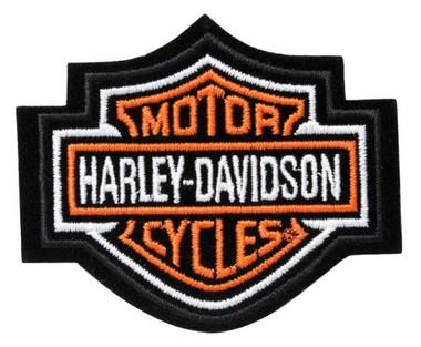 Harley-Davidson Orange Bar & Shield Patch XS 2 3/4'' x 2 1/4'' EMB302381 - Wisconsin Harley-Davidson