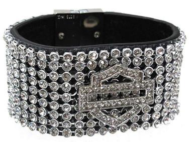 Harley-Davidson Women's Bar & Shield 7-Inch Wrist Cuff HDWCU10111-XS/S - Wisconsin Harley-Davidson