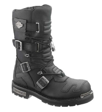 Harley-Davidson Men's Axel 10-Inch Black Motorcycle Boots D96035 - Wisconsin Harley-Davidson