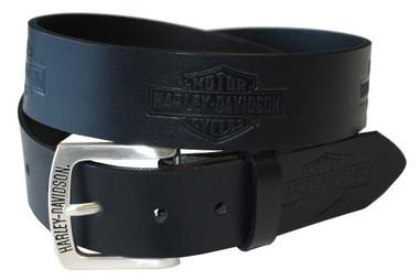 Harley-Davidson Men's Tradition Bar & Shield Belt Black Leather HDMBT10576 - Wisconsin Harley-Davidson