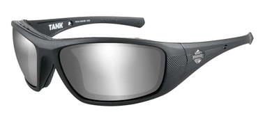 Harley-Davidson Men's Tank Sunglasses, Silver Gray Len/Matte Black Frame HDTAN04 - Wisconsin Harley-Davidson