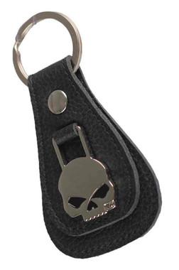 Harley-Davidson Willie G Skull Medallion Teardrop Key Chain, Black XFL0023-BLACK - Wisconsin Harley-Davidson