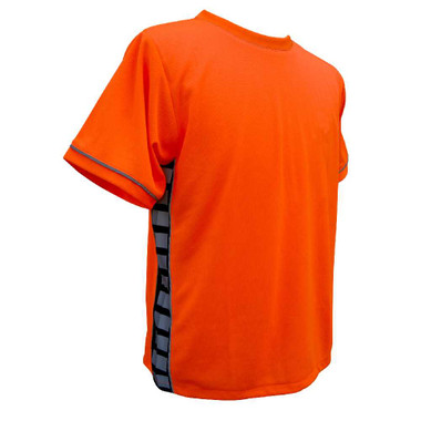 Missing Link Men's Evolution Moisture Wicking Tee Hi Viz Orange PTO - Wisconsin Harley-Davidson