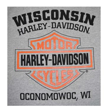 Harley-Davidson Mens Bar & Shield Tank Top Muscle Gray T-Shirt 30296626 - Wisconsin Harley-Davidson
