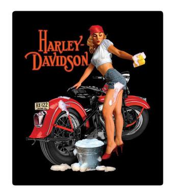 Harley-Davidson Wash Babe Tin Metal Sign, 13 W x 15 H Inch 2010371 - Wisconsin Harley-Davidson