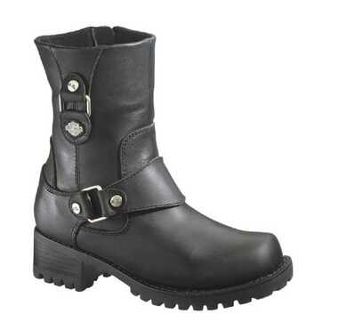 Harley-Davidson Women's Alivia Black Leather 7-Inch Motorcycle Boots D84269 - Wisconsin Harley-Davidson