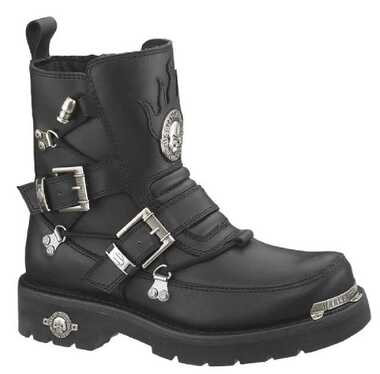 Harley-Davidson Men's Distortion Skull Metal Motorycle Black Boots D94167 - Wisconsin Harley-Davidson