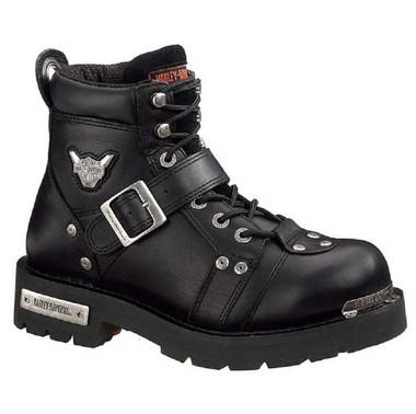 Harley-Davidson Men's Brake Buckle Black 6.00-Inch Motorcycle Boots D91684 - Wisconsin Harley-Davidson