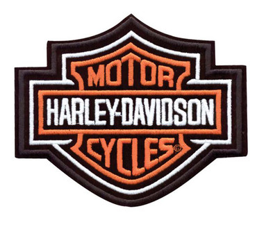 Harley-Davidson Bar & Shield Patch Medium Orange 5-5/8'' W x 4-5/8'' H EMB302383 - Wisconsin Harley-Davidson