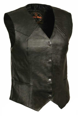 Leather King Women's Classic Four Snap Vest SH1227 - Wisconsin Harley-Davidson