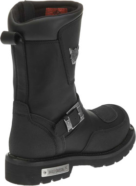 Harley-Davidson Men's Shift Engineer Zip Black 9-Inch Motorcycle Boots, D95115 - Wisconsin Harley-Davidson