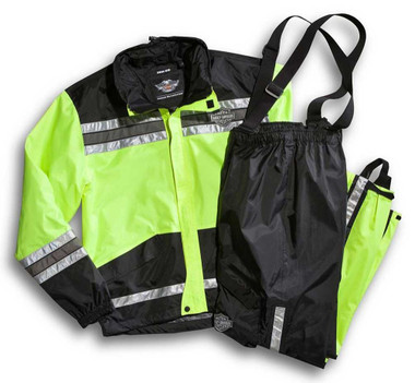 Harley-Davidson Men's Hi-Vis Yellow Rain Suit 98355-11VM - Wisconsin Harley-Davidson