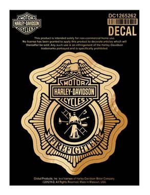 Harley-Davidson Firefighter Original Decal, Small Size DC1265262 - Wisconsin Harley-Davidson