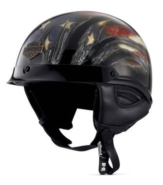 Harley-Davidson Men's Aura Ultra-Light J02 Half Helmet, Gloss Black 98210-16VM - Wisconsin Harley-Davidson