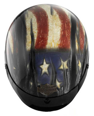 Harley-Davidson Men's Aura Ultra-Light J02 Half Helmet, Gloss Black 98210-16VM - Wisconsin Harley-Davidson