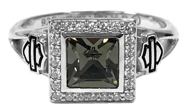 Harley-Davidson Women's Ring, Black Ice Crystal Outline Bling Ring HDR0362 - Wisconsin Harley-Davidson