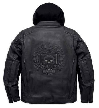Harley-Davidson Men's Aurora Willie G Skull 3-in-1 Jacket, Black. 98097-16VM - Wisconsin Harley-Davidson