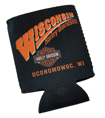 Harley-Davidson Wisconsin Harley Custom Can Wrap Cooler and Insulator CANWRAP - Wisconsin Harley-Davidson