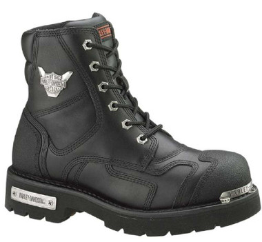 Harley-Davidson Women's Stealth 5.25-Inch Lace-Up Motorcycle Boots, Black D81641 - Wisconsin Harley-Davidson
