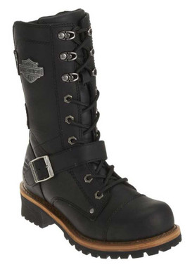 Harley-Davidson Women's Performance Albara BLK Leather Motorcycle Boots. D87066 - Wisconsin Harley-Davidson
