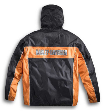 Harley-Davidson Men's Generations Rain Suit Black & Orange 98285-14VM - Wisconsin Harley-Davidson