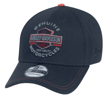 Harley-Davidson Men's Genuine Trademark 39THIRTY Cap Hat, Black. 99424-16VM - Wisconsin Harley-Davidson