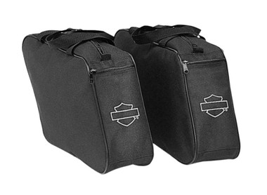 Harley-Davidson Bar & Shield Zippered Saddlebags Liners, Black 91959-97 - Wisconsin Harley-Davidson