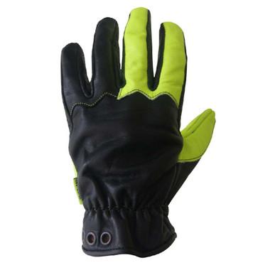Missing Link Communique Visability Gloves Black, Hi-Viz Green CGG - Wisconsin Harley-Davidson