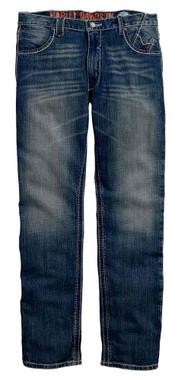 Harley-Davidson Men's Straight Leg Fit Modern Jeans, Medium Indigo 99030-16VM - Wisconsin Harley-Davidson