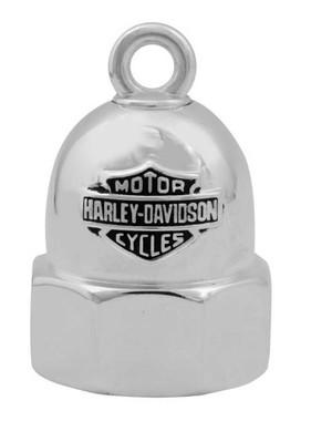 Harley-Davidson Bolt With Bar & Shield Logo Motorcycle Ride Bell, Silver HRB061 - Wisconsin Harley-Davidson