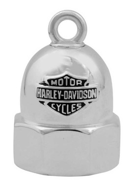 Harley-Davidson Bolt With Bar & Shield Logo Motorcycle Ride Bell, Silver HRB061 - Wisconsin Harley-Davidson