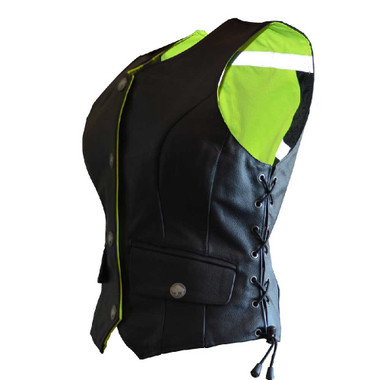Missing Link Women's G2 D.O.C. Reversible Safety Vest (Black/HiViz Green) G2RVWG - Wisconsin Harley-Davidson
