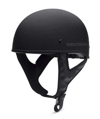 Harley-Davidson Men's Overdrive Low Profile Half Helmet, Black. 98335-15VM - Wisconsin Harley-Davidson