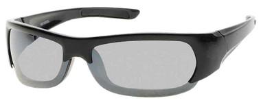 Harley-Davidson Mens Injected Bar & Shield Sunglasses, Black Frames & Smoke Lens - Wisconsin Harley-Davidson