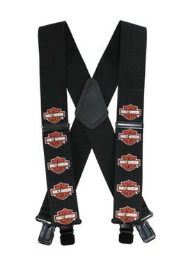 Harley-Davidson Bar & Shield Suspenders, 42 Inch SUS302303 - Wisconsin Harley-Davidson