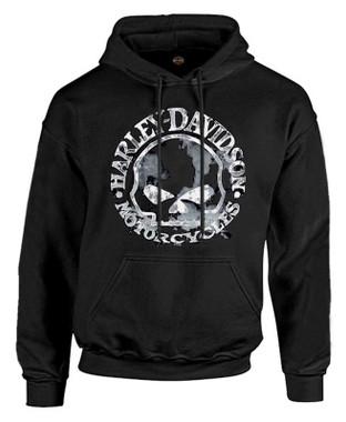 Harley-Davidson Men's Sweatshirt Willie G Skull H-D Pullover Black 30296648 - Wisconsin Harley-Davidson